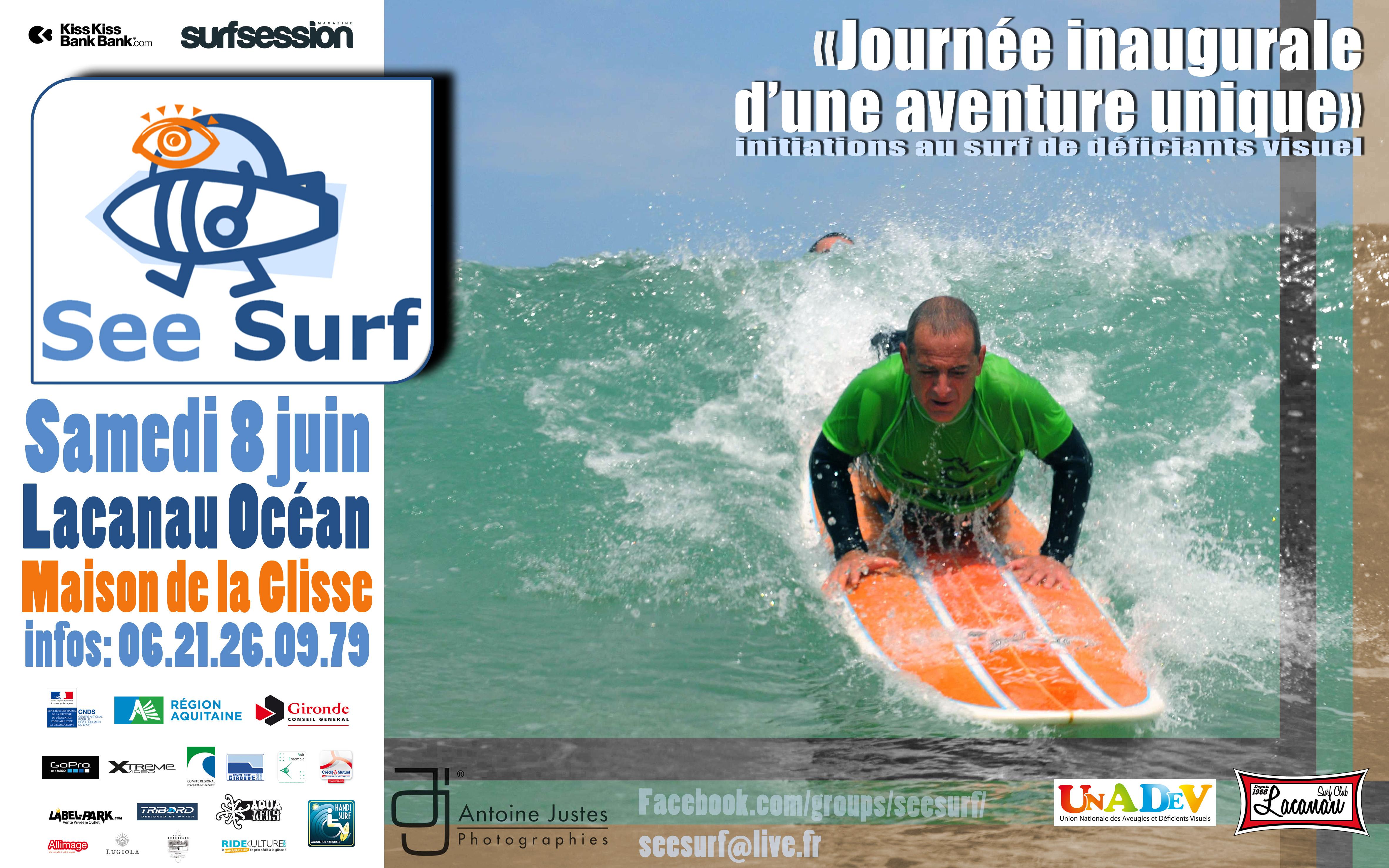Affiche See Surf - Lacanau Surf Club 8 Juin 2013