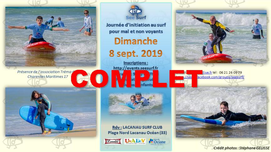 COMPLET : Affiche Troisième journée SeeSurf avec le Lacanau Surf Club 08/09/2019