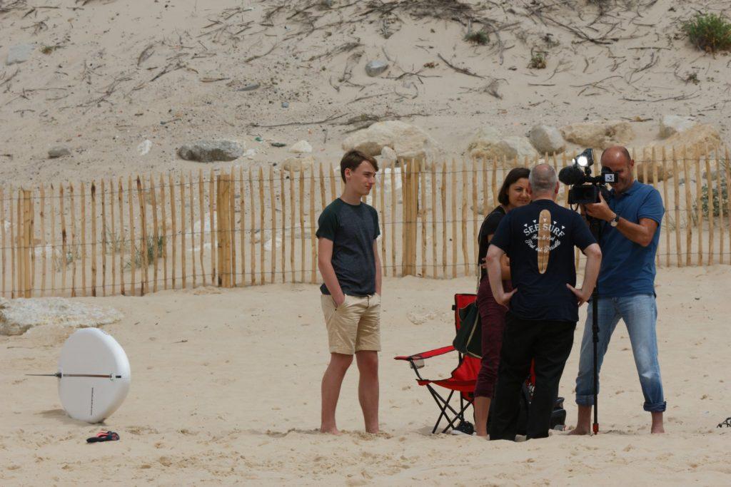 Interview de notre Président See Surf, Claudy, par France 3